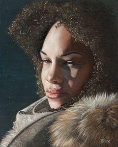 Oil painting - Girl's portrait - Yue Zeng