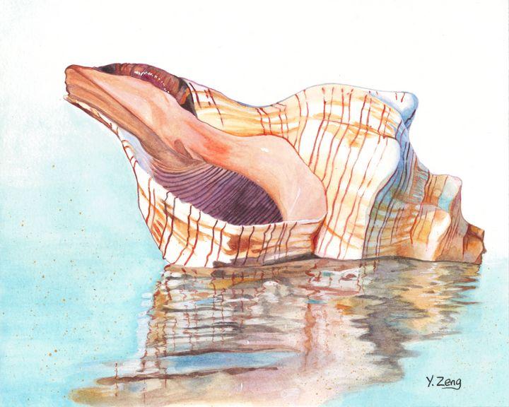 Gouache painting - Sea Shell - Yue Zeng