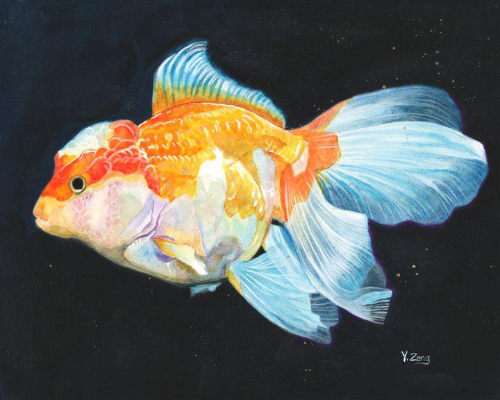 Gouache painting - Goldfish - Yue Zeng