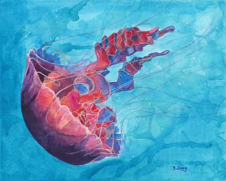 Gouache painting - Jellyfish - Yue Zeng