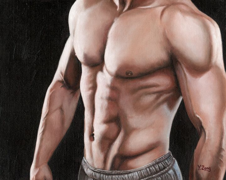 Oil painting - Male core - Yue Zeng