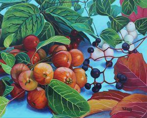 Original oil painting Fall/Autumn - Yue Zeng
