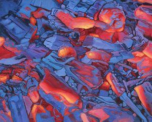 Oil painting - Hot blue coal - Yue Zeng