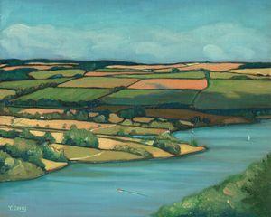 Oil painting landscape study #1