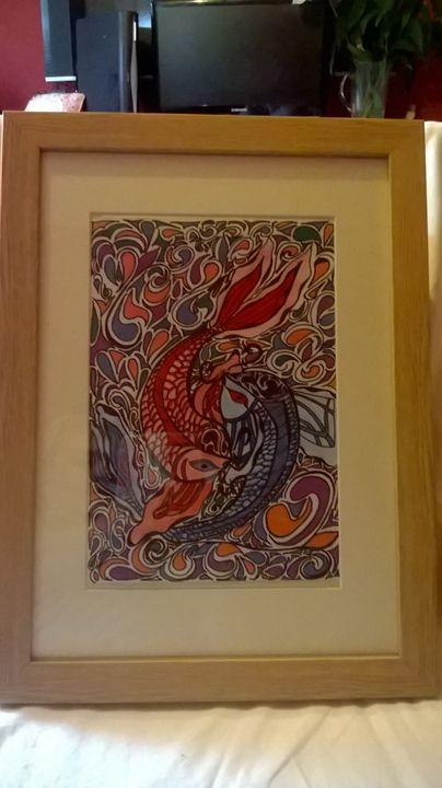 The yin & yang fish - imagination art