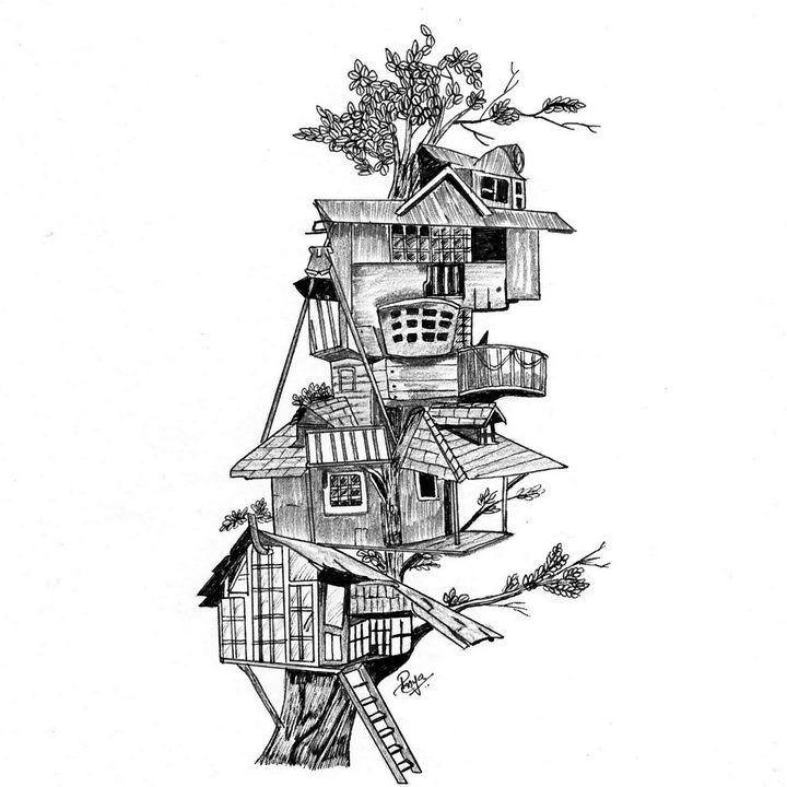 Tree House - HarVis Art