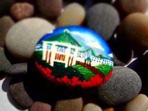 Pebble painting - Mackinac Island - Colors Of Life