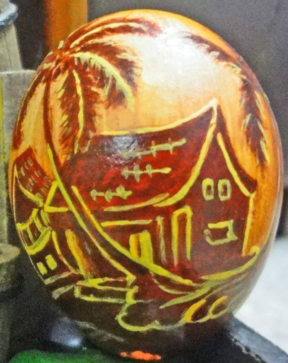 Egg Shell Painting - Colors Of Life