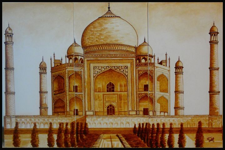 The Indian Wonder (Coffee painting) - Colors Of Life