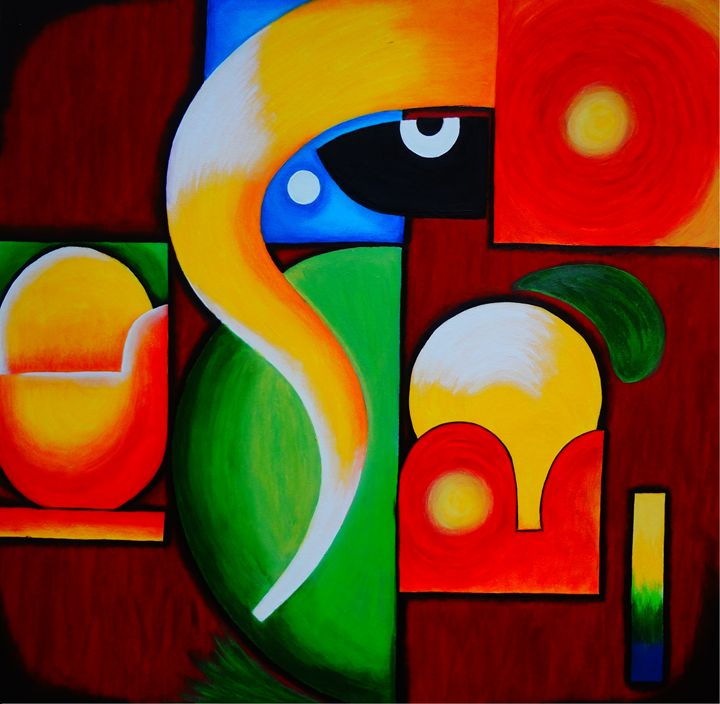 Modern art of Lord Ganesha - Colors Of Life