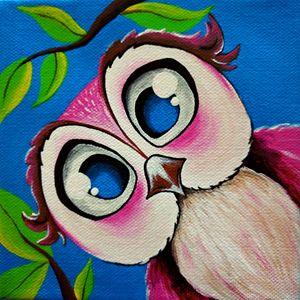 Pretty Pink Owl