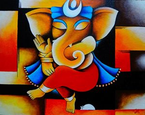 The Colorful Elephant God!