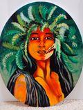 16X20 Oval-Sumerian Tribal Princess