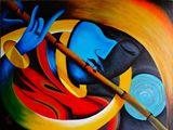 18X24 Lord Krishna - Modern Art
