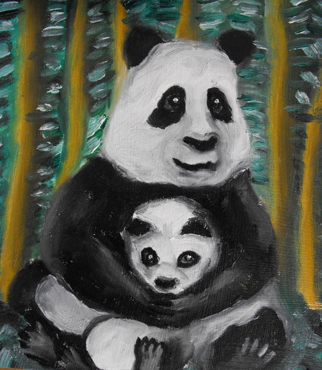 Panda with her little - Geko