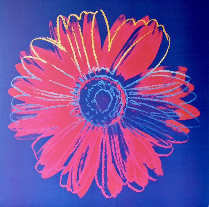 Warhol Flowers (Set of 2) Lithograph - New York Art Scout