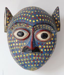 African Face Mask Sculpture