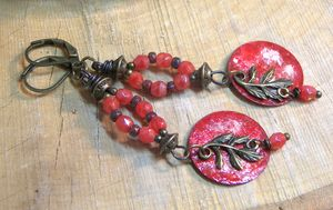 Red Chic Bohemian Chandelier Earring - Luna Essence Artistic Jewelry & Handbags