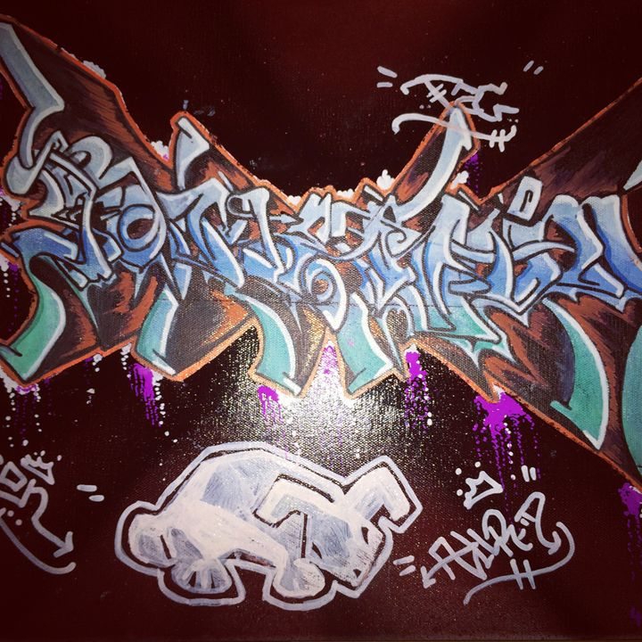 """Somthin' "" Graffiti - white rabbit"