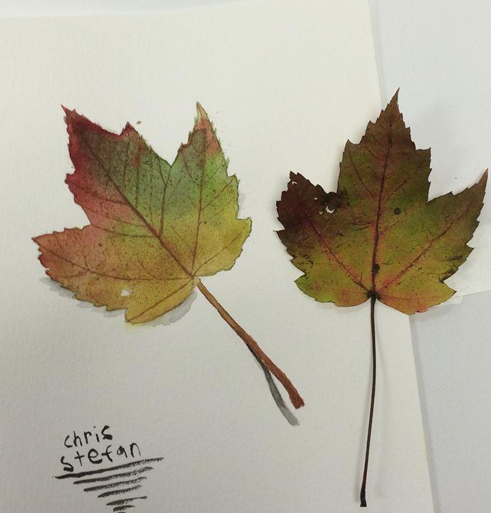Leaf Painting - Christopher Stefan's Art Gallery