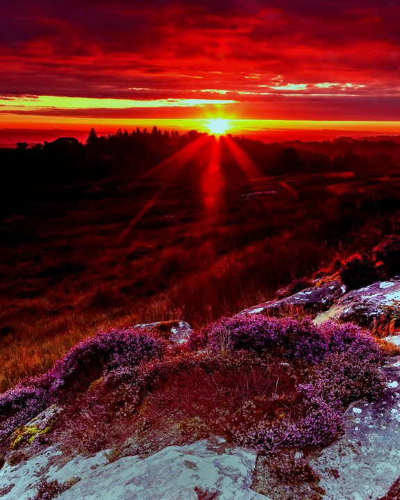 Sunrise. Shaftoe Craggs. - John Cox Photography and Fine Art