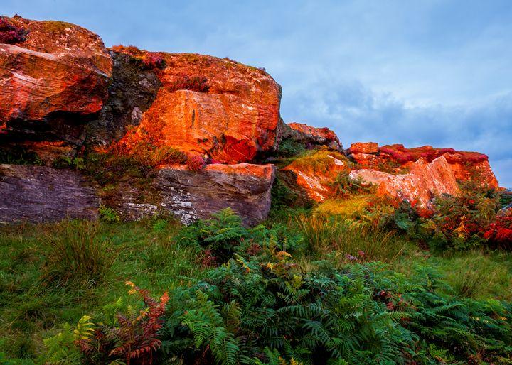 Morning light on Shaftoe Craggs. - John Cox Photography and Fine Art