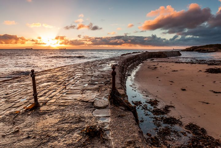 Sunrise at Cullercoats Bay #1 - John Cox Photography and Fine Art