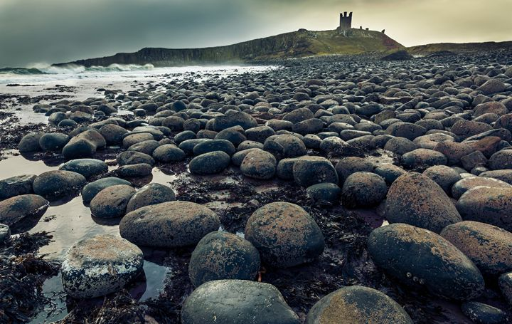 Cold morning at Dunstanburgh Castle. - John Cox Photography and Fine Art