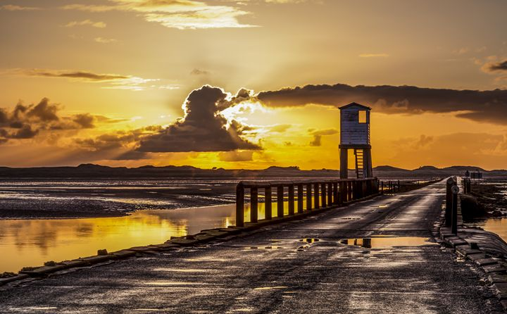 Sunrise over Holy Island  #4 - John Cox Photography and Fine Art