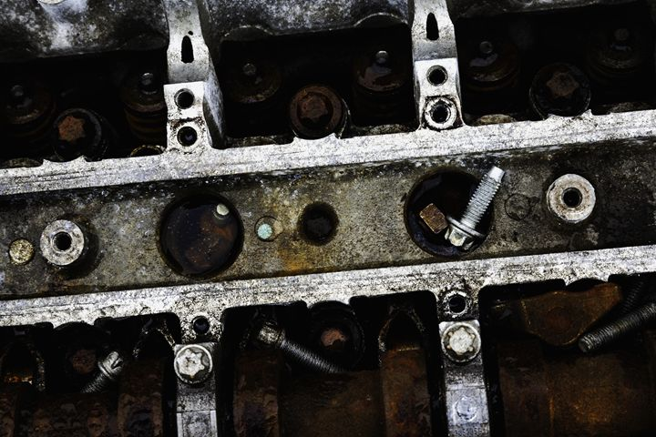 Scrap Car Engine and Bolts. - John Cox Photography and Fine Art