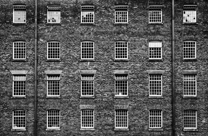 Warehouse windows. - John Cox Photography and Fine Art