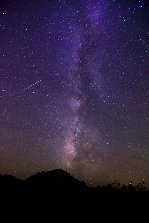 Milky Way with a Shooting Star - MMR_Photography