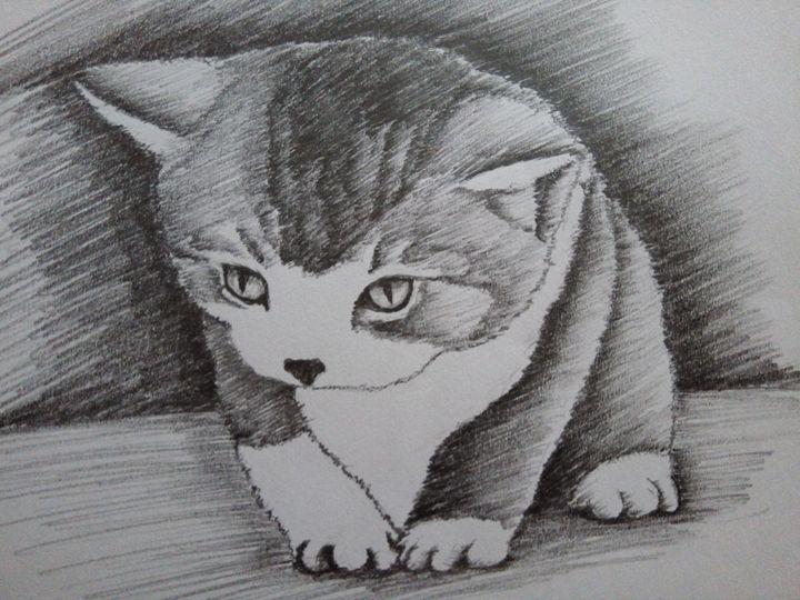 little sweet cat - my drawings