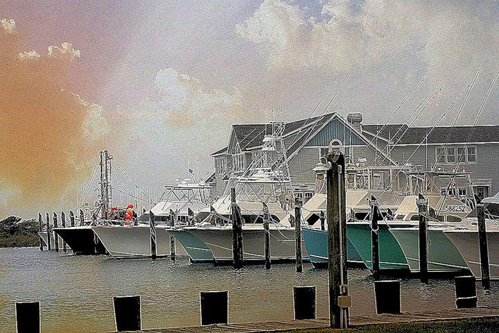 Hatteras Harbor - The Farmers Wife Art