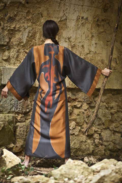 """The Heart and the Soul""silk kimono - Collectivartists"