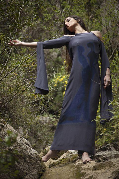 """The Touch""maxi silk dress - Collectivartists"