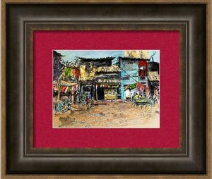 The Market 18×24 medium acrylic