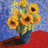 Ceramic mosaic wall artwork