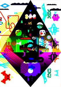 BLACK rainbow_DIAMOND