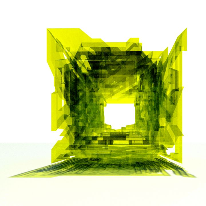 Yellow Cube - Clover Gallery