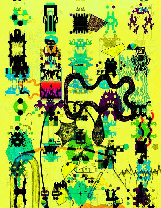 Hieroglyphs - Clover Gallery