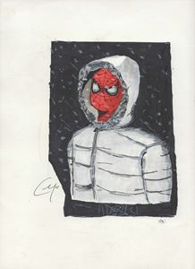 Spider-Man in the snow