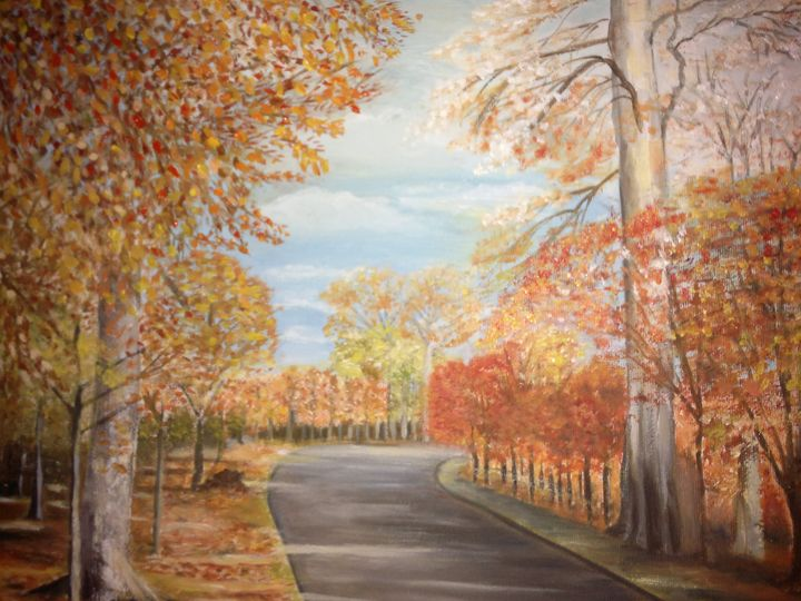 Autumn in Powers Court Ireland - Salwa Elhamamsy's original paintings