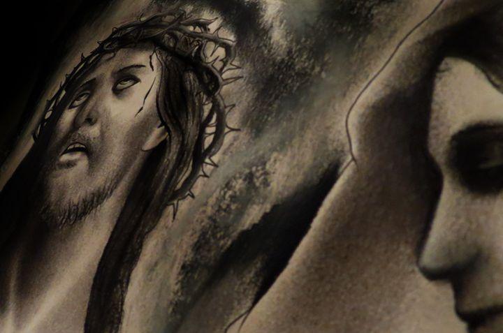 charcoal jesus n mary - BIG Teezy