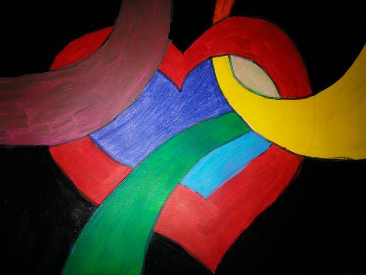 colorful heart - Linda mock
