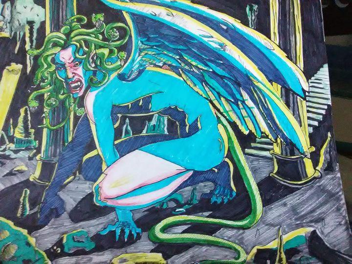 Gorgon in blue - Jamison Challeen