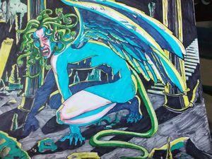 Gorgon in blue