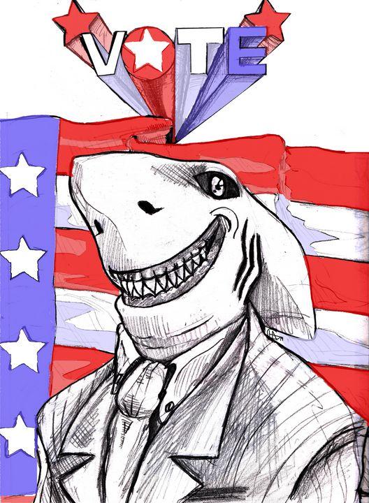 Land Shark runs for President - Jamison Challeen