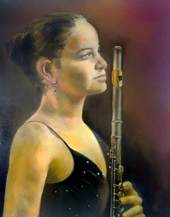 Woman Holding A Flute - Xiaorui(Ray) Yu