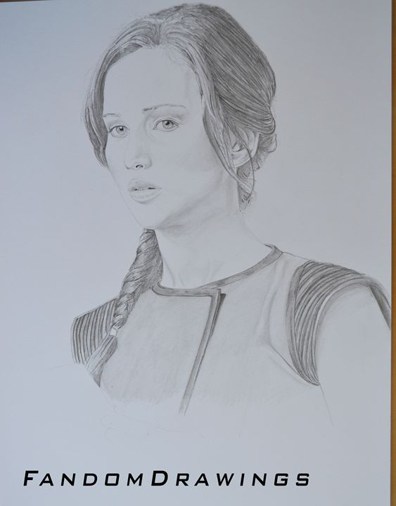 Katniss Everdeen Portrait - Fandom Drawings